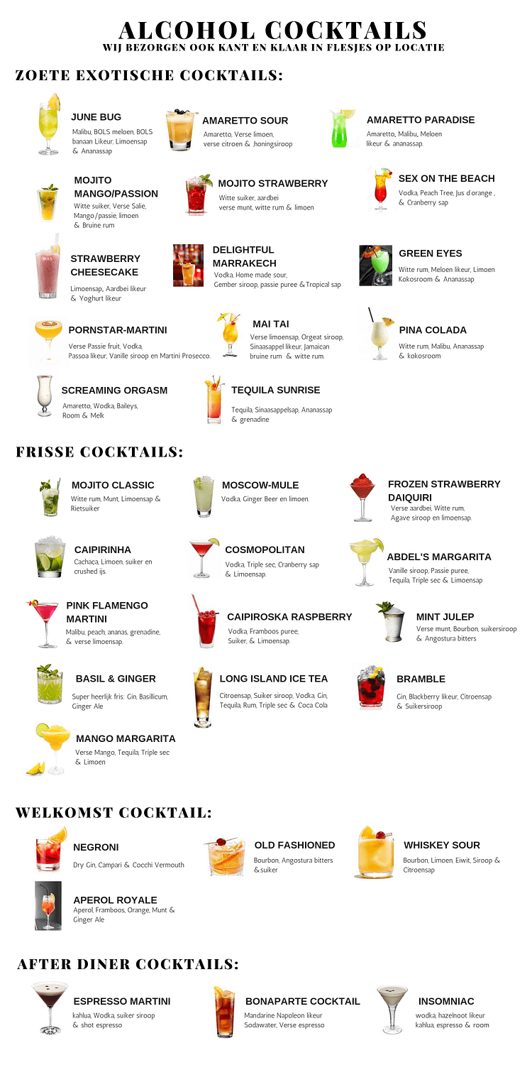 cocktail menu ik wil cocktails