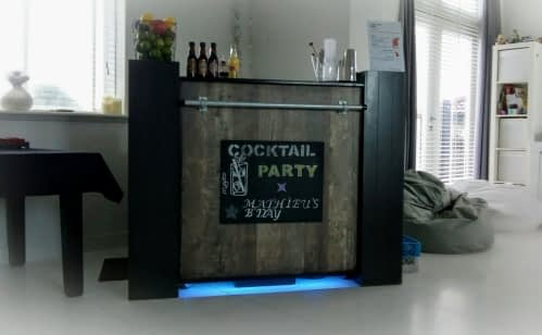 1 meter cocktailbar 13-01-2019 in Noordwijk