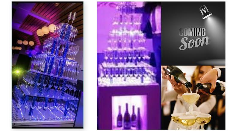 champagne toren huren op locatie