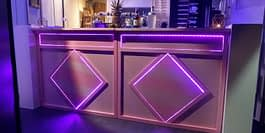 Roze 2.40 meter bar + led