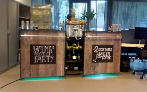 cocktail & gin tonic bar bij WilmaWonen 21-11-2018