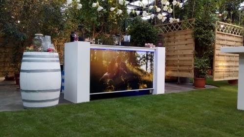cocktailbar op een bruiloft in De Arendshoeve, the Garden of Amsterdam op 22-09-2018