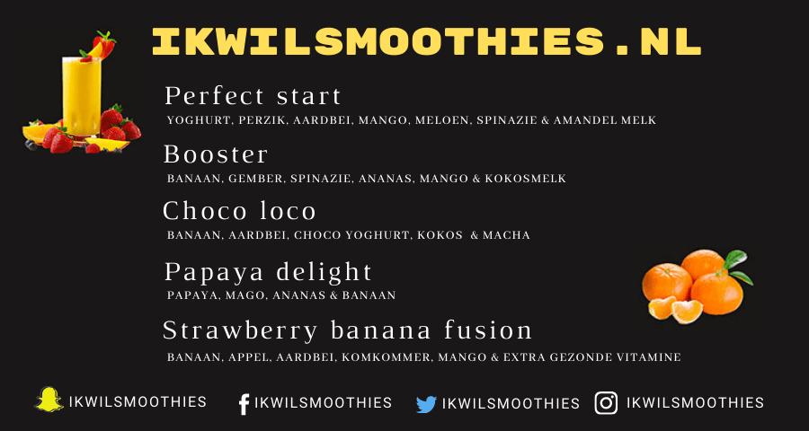 smoothie menu